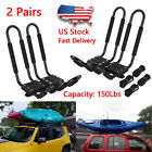 2-10pairs Canoe Boat Kayak Roof Rack Car SUV Truck Top Mount Carrier J Cross Bar