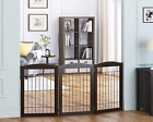 Spirich Freestanding Foldable Wire Pet Gate for Dogs, 60 Inches Extra Wide, 30 I
