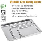 1Pc Baking Sheets Chef Cookie Sheet Stainless Steel Baking Pans Toaster Oven