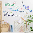 Bedroom Decor Pattern Vinyl Decal Live Every Moment Family Romantic Sticker DIY