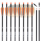 """12x 26/28/30"""" Archery Carbon Arrows for Compound Recurve Bow Target Hunting"""