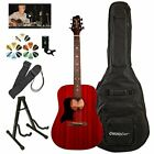 Sawtooth Left Handed Modern Vintage Dreadnought Acoustic Guitar with ChromaCast