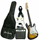 Glen Burton GE101BCO-TS Electric Guitar Stratocaster-Style Combo with Accessorie