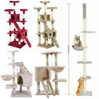 Cat Tree Scratching Post Kitty Tower Activity Center 5-Tier Floor to Ceiling UK