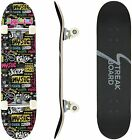 """31""""x 8"""" Trick Complete Skateboard Double Kick Concave Skateboards for Beginners"""