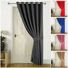 Heavy Thermal Blackout Door Curtains Eyelet Ring Top Ready Made Single Panel