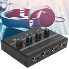 USB Cable Headphone Amplifier 4  Channel Ferroalloy Mono/Stereo Monitor AMP  i4