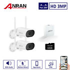 HD Wireless Wifi 3MP Outdoor Security Camera System Audio 4CH CCTV Night Vision
