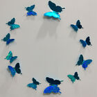 12pcs Simulation Flash Butterfly Home Decor 3d Stereo Wall Sticker Ceiling Door