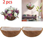 2Pcs Round Replacement Plant Basket Liners Coco Fiber Liner for Hanging Basket