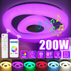 200W 2-Layer Crystal Edge LED Ceiling Light bluetooth Music Speaker RGB Dimmable