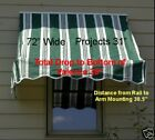 Window Awning 6' Retractable W/Hardware  Free UPS Grd