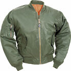 MA1 FLYING OLIVE BOMBER ARMY MILITARY PILOT JACKET