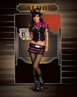 Sexy Halloween Adult WANTED Outlaw Cowgirl Costume