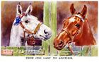 One Lady To Another Vintage Horses Quilt Block Multi Sz FrEE ShiPPinG WoRld WiDE