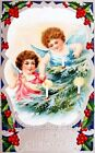 Christmas Holly Angels Greeting Quilt Block Multi Sizes FrEE ShiPPinG WoRld WiDE