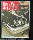MOTOR WORLD 1958 T-SHIRT HOT ROD RAT ROD CUSTOM IMPALA