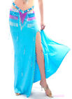 NEW Sexy belly dance Costume slit Skirt Dress 11 colors
