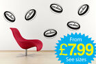 Wall Stickers, kids, Rugby , Rugby Balls x 6