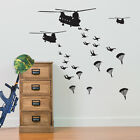 Army Troops Invade Helicopters Wall Stickers Vinyl C Military Mural Stickers A05