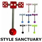 Sexy Erotic Spinning Spinner Tongue Bar Barbell UV Dice