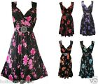 NEW WOMANS LADIES SUMMER HOLIDAY EVENING PARTY BEST DRESS SIZE 8-26 UK BLACK