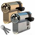 Garage Door Half Euro Cylinder Replacement Barrel Lock with 3 Keys