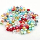 88x Glass Faux Pearl European Spacer Loose Beads 10mm