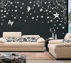 Floral Swirl Vine Flower Butterfly Wall Sticker Decal