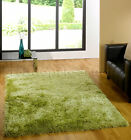 MED- EXTRA LARGE THICK SOFT OLIVE MOSS GREEN SHAGGY RUG