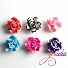 20pcs Lace Flowers FIMO Polymer Clay Spacer Loose Beads