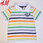 H&M Boy Multi colour stripe Polo T shirt 1-2Y/2-4Y/4-6Y