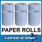 Paper Blue Rolls - 2 Ply Centerfeed Center Feed Industrial Wipes Tissue Cleaning