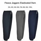 Mens Big King Size Fleece Jogging Joggers Tracksuit Bottoms Trousers Pants New