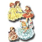 Vtg 1950s Doll Clothes Dress, Coat, Hat, Nightgown Pattern ~ 16