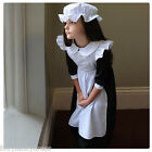 Deluxe Girl's Victorian Maid Period Costume with Mob Cap Fancy Dress Book Week