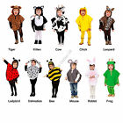 Toddlers Fancy Dress Costume Animal Tabard Childs Poncho  Book Day Zoo Halloween