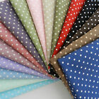 half x metres  cotton poplin polka dot fabric  loads of colours 44 inches wide
