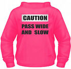 Hi Vis Hoodie Horse Riding with CAUTION PASS WIDE AND SLOW printed on Reflective