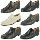 Mens ivory leather Grenson Clapham Moccasin G fitting