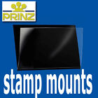 Prinz Stamp Mounts Strips Cut to Size Standard top opening black backed - per 25