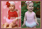 NEW Baby Girls Clothes One Piece Cotton Bodysuit Jumpsuit with Lace Tutu 9-24M