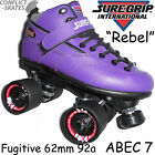 SURE-GRIP Rebel Purple Skates Fugitive Leather Roller Derby Size 4UK - 9UK