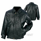 Mens Genuine Leather Bomber Motorcycle Biker Riding Jacket~S M L XL 2XL 3XL