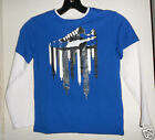 Puma Boys Blue Longsleeve Top Size-4 or 5 or 6 NWT