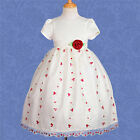 Flower Girl Dress Wedding Bridesmaid Party Embroidery Age 2-10 Years FG152