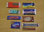 9x miniature bars of chocolate modern 1/12th dolls house shop  2 doll's (J13)