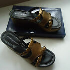 Donald J Pliner Platform Leather Slide Wedge Sz 7(US) & 8(US)