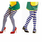 *Childrens Alice in Wonderland Blue and White Striped Tights, Kids Fancy Dress*