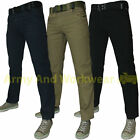 BEDFORD CORD MENS JEANS - DESIGNER COMFORT FIT TROUSER CLASSIC WITH FREE BELT